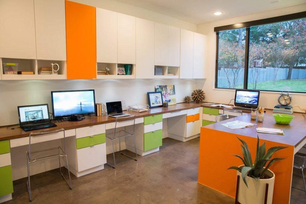 Home offices and study spaces. Work where you live!