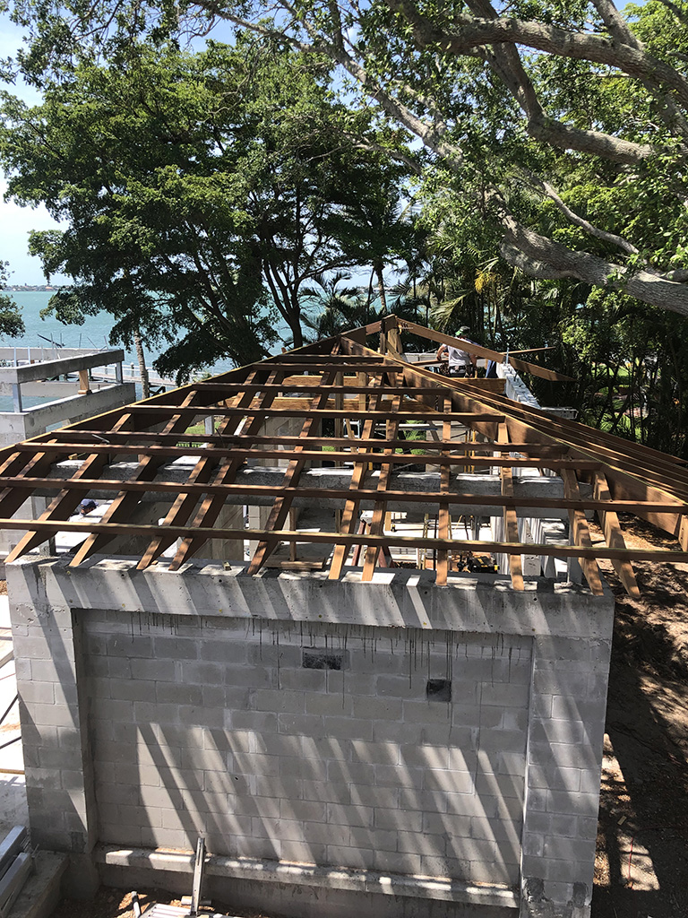 Bayfront Home Construction Begins With Demo Of Old Structure