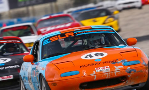 Steve Murray Of Murray Homes Races Past 133 MPH and 35 Competitors At The SCCA Regionals In Daytona